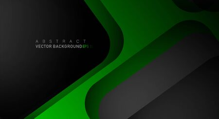 Geometric vector backgrounds that overlap layers on black space for text and background designs