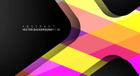 Colorful geometric vector backgrounds that overlap layers on black space for text and background designs