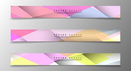 Set of Banners with Multicolor Backgrounds. Geometric Abstract Modern Vector Illustration Ilustração