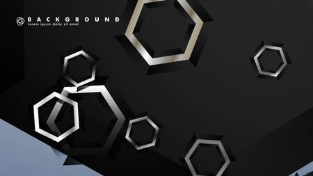 abstract vector background with gradient hexagon shapes. the background is suitable for anything