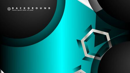 Vector circle overlaps and blue color for background, space for text