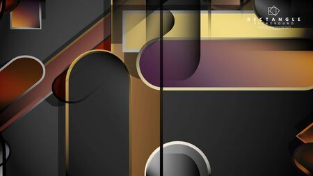 Abstract background Round rectangle in brick and stone colors