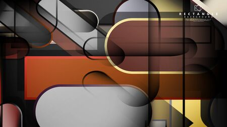 Abstract background Round rectangle in brick and stone colors Standard-Bild - 129490182