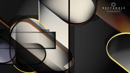 Abstract background Round rectangle in brick and stone colors Standard-Bild - 129490187