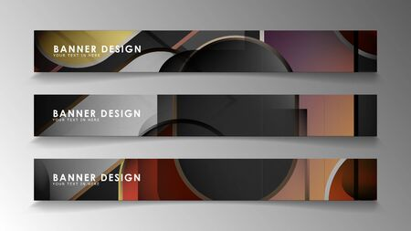 Set the banner abstract background. Rectangular, round in brick and stone colors Standard-Bild - 129490186