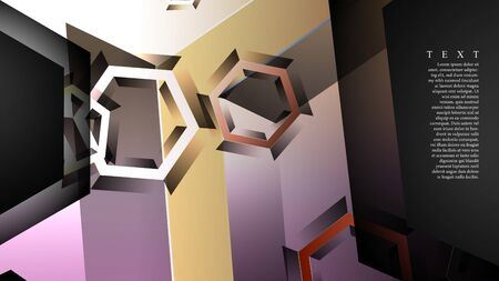 abstract vector background with gradient hexagon shapes. 일러스트