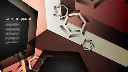 abstract vector background with gradient hexagon shapes. the background is suitable for anything. Illustration
