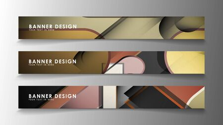 Set the banner abstract background. Rectangular, round in brick and stone colors Standard-Bild - 129490098