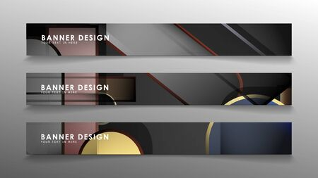 Set the banner abstract background. Rectangular, round in brick and stone colors Standard-Bild - 129490110