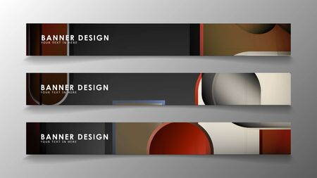 Set the banner abstract background. Rectangular, round in brick and stone colors Standard-Bild - 129490121