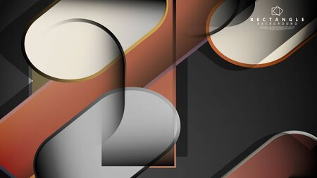 Abstract background Round rectangle in brick and stone colors Standard-Bild - 129489828