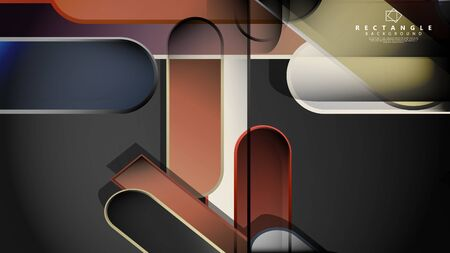 Abstract background Round rectangle in brick and stone colors Standard-Bild - 129489836