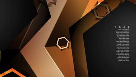 abstract vector background with gradient hexagon shapes. Иллюстрация