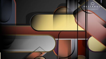 Abstract background Round rectangle in brick and stone colors Standard-Bild - 129489858