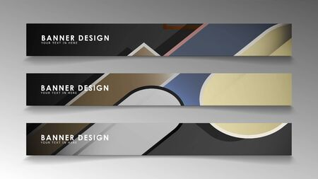 Set the banner abstract background. Rectangular, round in brick and stone colors Standard-Bild - 129489930