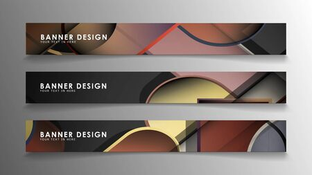 Set the banner abstract background. Rectangular, round in brick and stone colors Standard-Bild - 129489929
