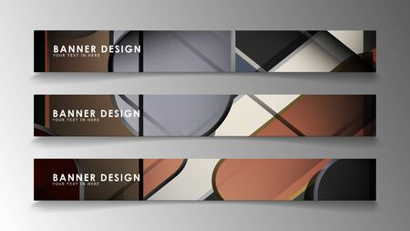 Set the banner abstract background. Rectangular, round in brick and stone colors Standard-Bild - 129489936