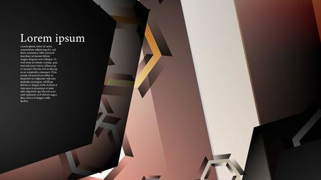 abstract vector background with gradient hexagon shapes. the background is suitable for anything. Иллюстрация