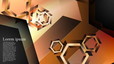 abstract vector background with gradient hexagon shapes. the background is suitable for anything. Stock Illustratie