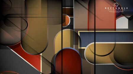Abstract background Round rectangle in brick and stone colors Standard-Bild - 129490002