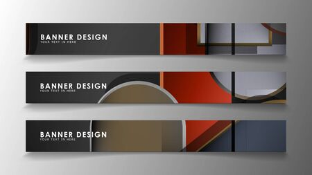 Set the banner abstract background. Rectangular, round in brick and stone colors Standard-Bild - 129490010