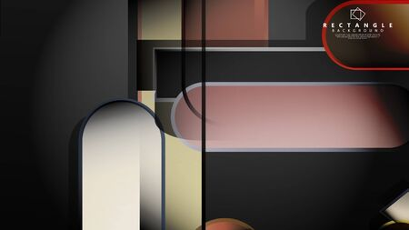 Abstract background Round rectangle in brick and stone colors Standard-Bild - 129490017