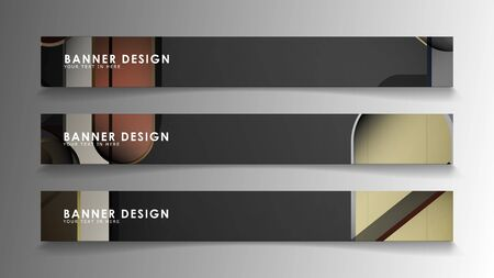 Set the banner abstract background. Rectangular, round in brick and stone colors