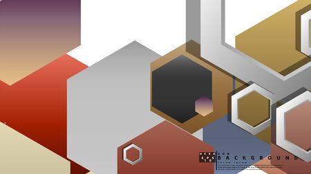 Modern geometric abstract vector templates stone and brick color compositions. Vector illustration
