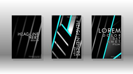 Cover book with a geometric design background. Valid for banners, placards, leaflets, poster designs, etc. vector template