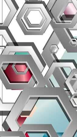 Abstract geometric background with hexagon jewels color compositions. Vector illustration Фото со стока - 129739148