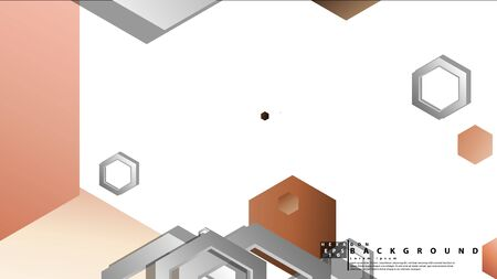 Abstract geometric background with hexagons skin color composition. Vector illustration 일러스트