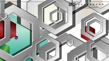 Abstract geometric background with hexagon jewels color compositions. Vector illustration Фото со стока - 129739160