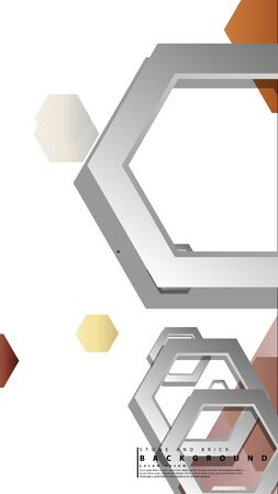 Modern geometric abstract vector templates stone and brick color compositions. Vector illustration Foto de archivo - 129739347