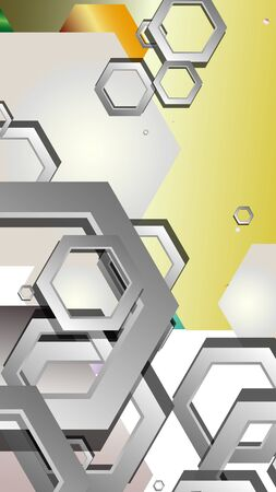 Abstract geometric background with hexagon jewels color compositions. Vector illustration Фото со стока - 129739565