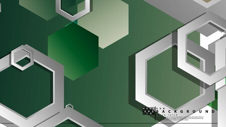 Abstract geometric background with hexagons, foliage color composition. Vector illustration Foto de archivo - 129739802