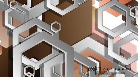 Abstract geometric background with hexagons skin color composition. Vector illustration Stock Illustratie