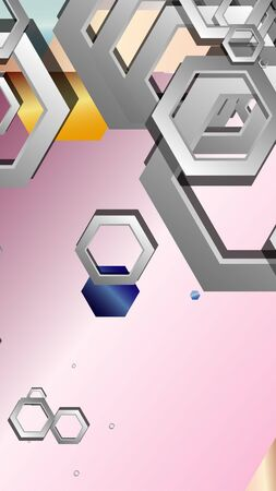 Abstract geometric background with hexagon jewels color compositions. Vector illustration Фото со стока - 129748062