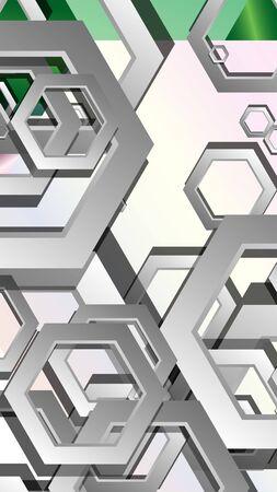Abstract geometric background with hexagon jewels color compositions. Vector illustration Фото со стока - 129739420