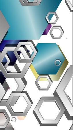 Abstract geometric background with hexagon jewels color compositions. Vector illustration Фото со стока - 129747787