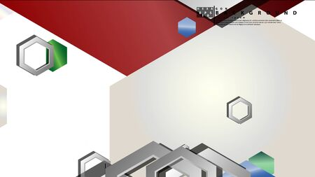 Abstract geometric background with hexagon jewels color compositions. Vector illustration Фото со стока - 129739005