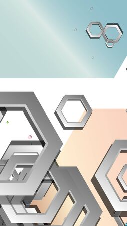 Abstract geometric background with hexagon jewels color compositions. Vector illustration Vettoriali