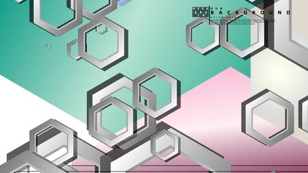 Abstract geometric background with hexagon jewels color compositions. Vector illustration Фото со стока - 129739266