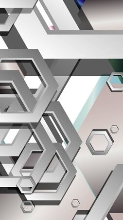 Abstract geometric background with hexagon jewels color compositions. Vector illustration Фото со стока - 129747804
