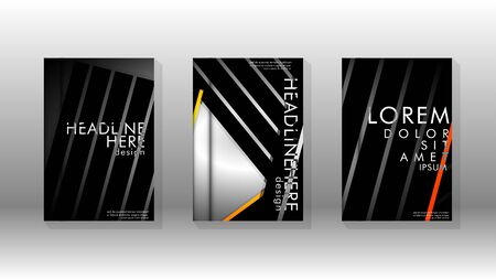 Cover book with a geometric design background. Valid for banners, placards, leaflets, poster designs, etc.