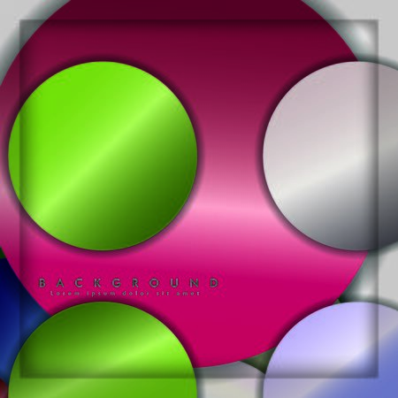 abstract vector circle background with color gems and jewels gradient and shadow