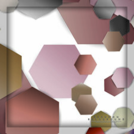 abstract vector hexagon background with color stone and brick gradient and shadow Banco de Imagens - 129530282