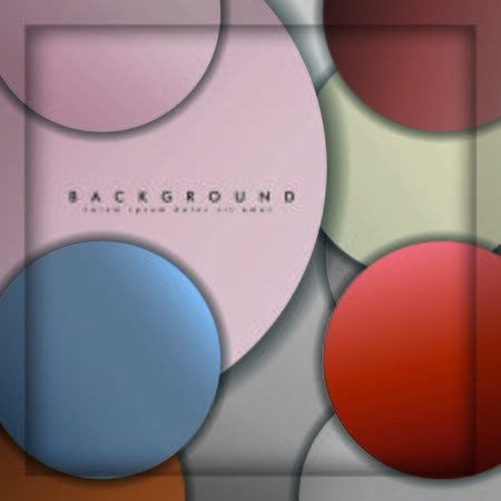 abstract vector circle background with color stone and brick gradient and shadow Banco de Imagens - 129530281