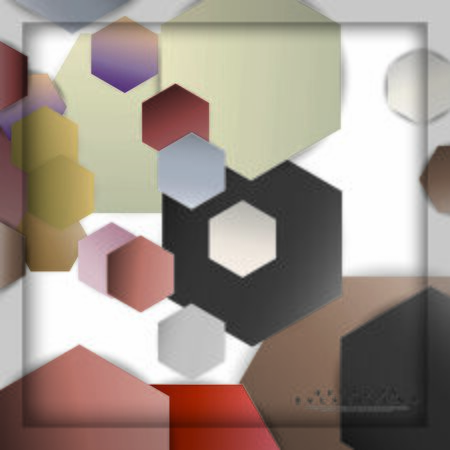 abstract vector hexagon background with color stone and brick gradient and shadow Banco de Imagens - 129530280