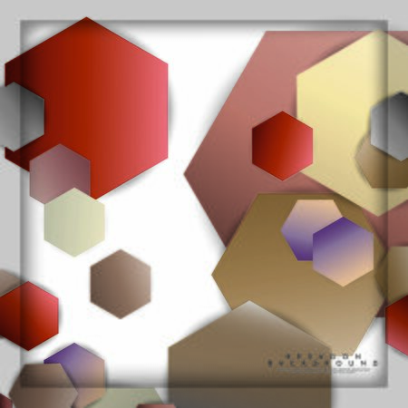 abstract vector hexagon background with color stone and brick gradient and shadow Banco de Imagens - 129530286