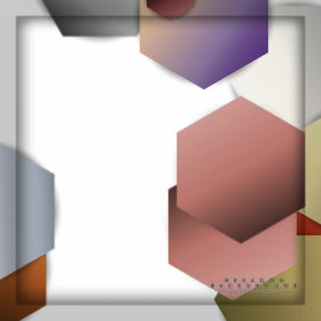 abstract vector hexagon background with color stone and brick gradient and shadow